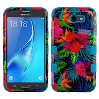 Insten Multi-Color Electric Hibiscus Hard Snap-on Dual Layer Hybrid Case Cover For Samsung Galaxy Halo/J7 (2017)/J7 Perx