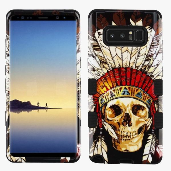 Insten Multi-Color Dead Chief Skull Tuff Hard Snap-on Dual Layer Hybrid Case Cover For Samsung Galaxy Note 8