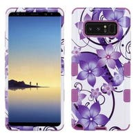 Insten Purple Hibiscus Flower Romance Tuff Hard Snap-on Dual Layer Hybrid Case Cover For Samsung Galaxy Note 8