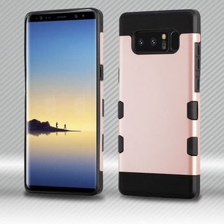 Insten Rose Gold/Black Tuff Hard Snap-on Dual Layer Hybrid Case Cover For Samsung Galaxy Note 8
