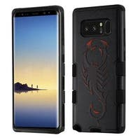 Insten Black Scorpio Tuff Hard Snap-on Dual Layer Hybrid Case Cover For Samsung Galaxy Note 8