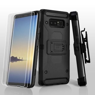 Insten Hard Snap-on Dual Layer Hybrid Case Cover with Stand/Holster/Bundled For Samsung Galaxy Note 8