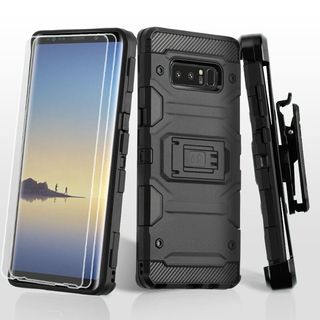 Insten Hard Snap-on Dual Layer Hybrid Case Cover with Stand/Holster For Samsung Galaxy Note 8