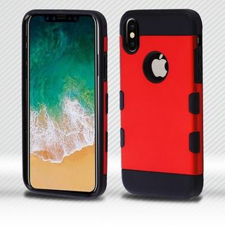 Insten Hard Snap-on Dual Layer Hybrid Metal Case Cover For Apple iPhone 8