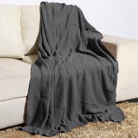 100 Persent Cotton Moss Knit Oversized Throw