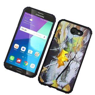 Insten Multi-Color Leaf Hard Snap-on Dual Layer Hybrid Case Cover For Samsung Galaxy Amp Prime 2/ Express Prime 2/ J3 (2017)