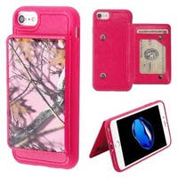 Insten Hot Pink Oak-Hunting Executive Protector Leatherette TPU Case Cover Wallet with Stand For Apple iPhone 6/ 6s/ 7