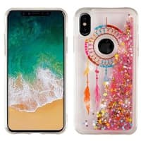 Insten Multi-Color Dreamcatcher Quicksand Glitter Hard Snap-on Dual Layer Hybrid Case Cover For Apple iPhone X
