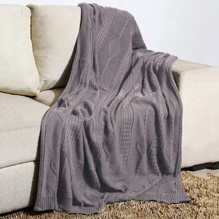 100 Percent Cotton Diamond Knit Oversized Throw