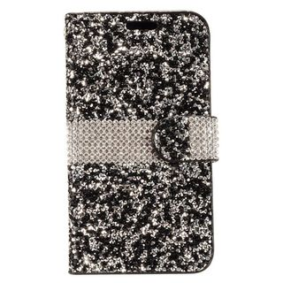 Insten Leatherette Rhinestone Bling Case Cover with Wallet Flap Pouch For Motorola Moto E4