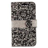 Insten Leatherette Rhinestone Bling Case Cover with Wallet Flap Pouch For Samsung Galaxy Note 8
