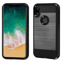 Insten Hard Snap-on Dual Layer Hybrid Brushed Case Cover For Apple iPhone X