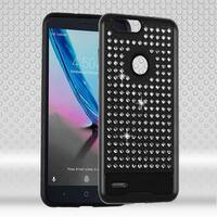 Insten Hard Snap-on Dual Layer Hybrid Diamond Bling Case Cover For ZTE Blade Z Max/ Sequoia