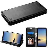Insten Leatherette Case Cover with Stand/ Wallet Flap Pouch/ Photo Display For Samsung Galaxy Note 8
