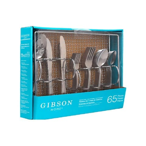 Gibson Home South Bay 65 piece flatware set