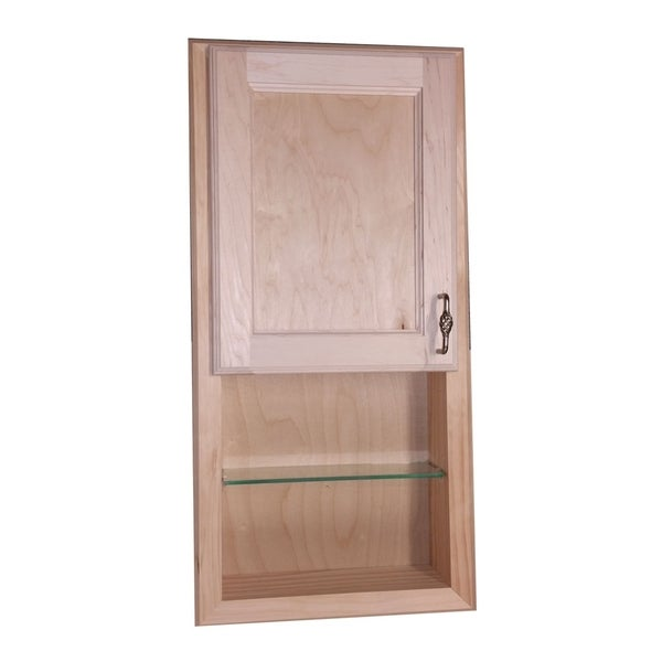 Genial Christopher Recessed Solid Wood Medicine Cabinet W/ 12 Inch Open Shelf