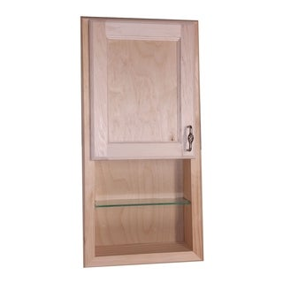 Christopher Recessed Solid Wood Medicine Cabinet w/ 12-inch Open Shelf