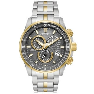 Citizen Eco-Drive Two-Tone Chronograph male Watch AT4124-51H
