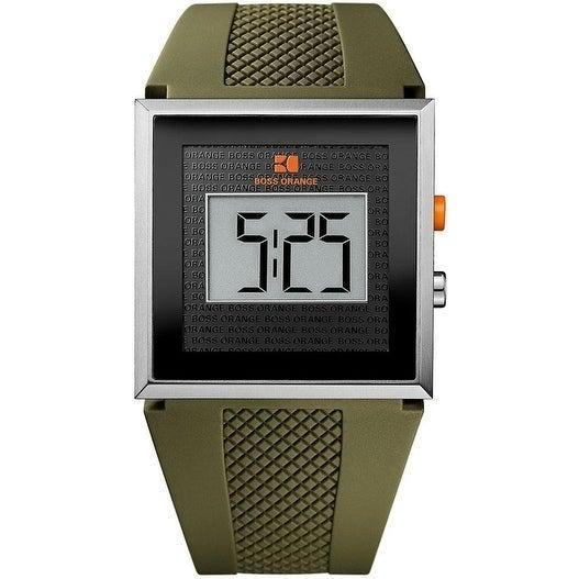 BOSS ORANGE Green Rubber LCD male Watch