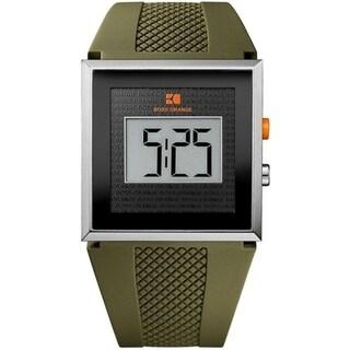BOSS ORANGE Green Rubber LCD male Watch 1512700