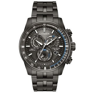 Citizen Eco-Drive Black Stainless Steel Chronograph male Watch AT4127-52H