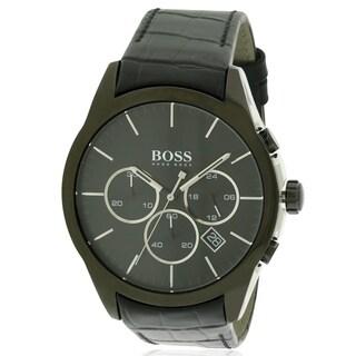 Hugo Boss Leather Chronograph male Watch 1513367