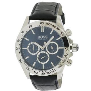 Hugo Boss Leather Chronograph male Watch 1513176