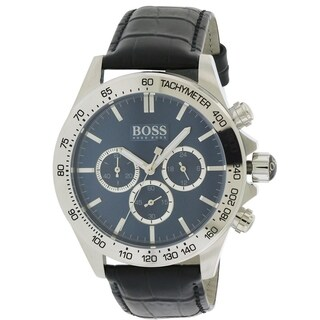 Hugo Boss Leather Chronograph male Watch 1513176