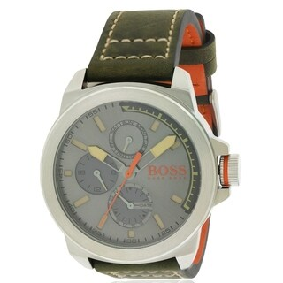Hugo Boss Leather Chronograph male Watch 1513318