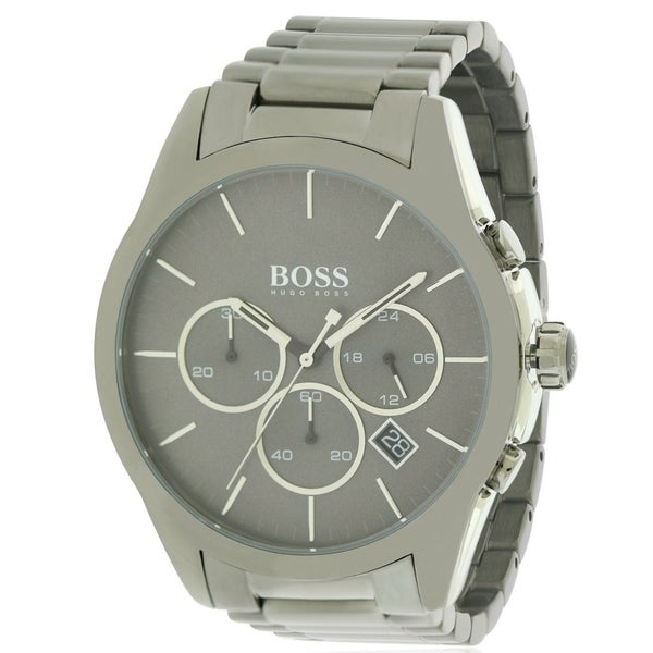c18635ce8 Shop Hugo Boss stainless Steel Chronograph male Watch 1513364 - Free  Shipping Today - Overstock - 17739703