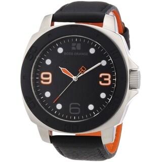 BOSS ORANGE Black Leather male Watch 1512669