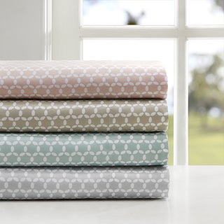 Madison Park 3M Microcell Print Moisture Wicking and Stain Resistant Sheet Set
