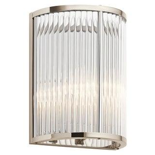 Kichler Lighting Artina Collection 2-light Polished Nickel Wall Sconce