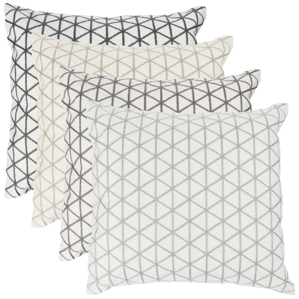 """Modern Geometric Decorative Throw Pillow & Insert- Home Decor Triangle Accent Pillow with Invisible Zipper, 18"""" by Windsor Home"""