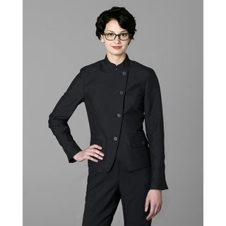 Twin Hill Womens Jacket Black Poly Eton (Option: 2x)