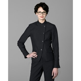 Twin Hill Womens Jacket Black Poly Eton