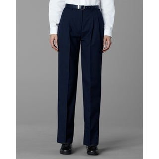 Twin Hill Womens Pant Navy Poly/Wool Pleated Front