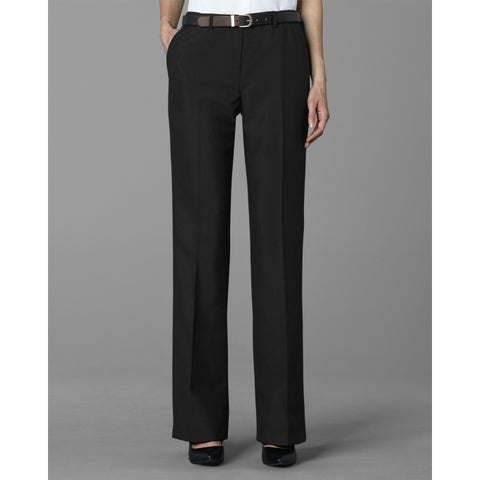 Twin Hill Womens Pant Charcoal Performance Flat Front