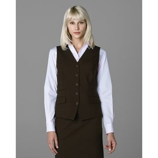 Twin Hill Womens Vest Brown Heather Performance 5-button, v