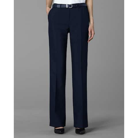 Twin Hill Womens Pant Navy Poly Flat Front