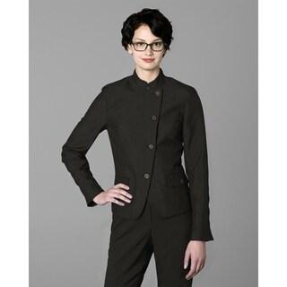 Twin Hill Womens Jacket Chocolate Poly Eton (Option: 2x)