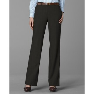 Twin Hill Womens Pant Chocolate Performance Flat Front