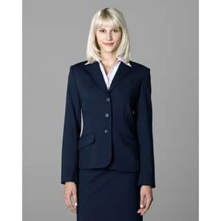 Twin Hill Womens Jacket Navy Poly 3-button|https://ak1.ostkcdn.com/images/products/17739805/P23942339.jpg?impolicy=medium
