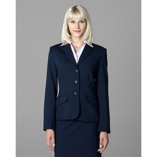 Twin Hill Womens Jacket Navy Poly 3-button