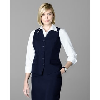 Twin Hill Womens Vest Navy Poly 5-button, v