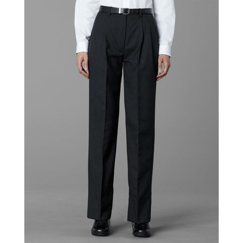 Twin Hill Womens Pant Charcoal Poly/Wool Pleated Front