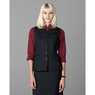 Twin Hill Womens Vest Black Performance Rounded Collar
