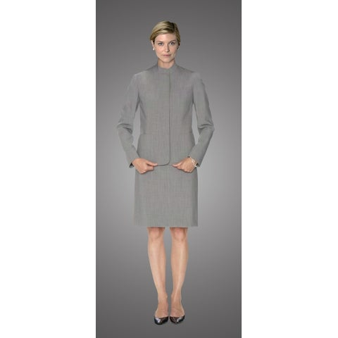 Twin Hill Womens Jacket Grey Heather Performance Fly Front