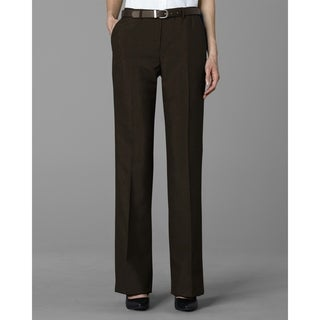 Twin Hill Womens Pant Chocolate Poly Flat Front