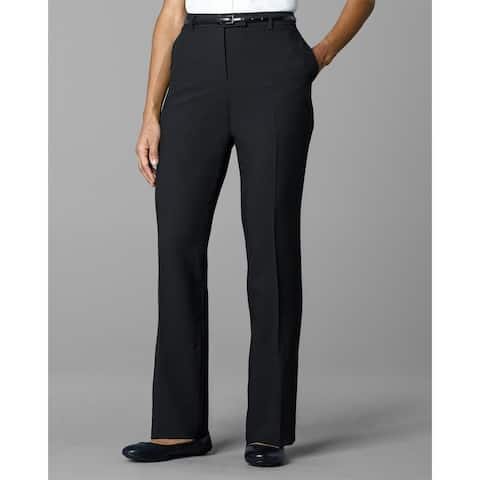 Twin Hill Womens Pant Black Poly Flat Front